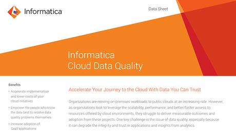Data Quality Management: Cloud Data Quality Radar | Informatica