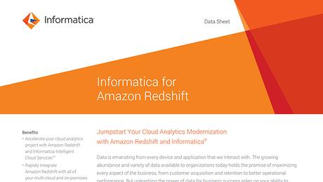 Informatica for Amazon Redshift