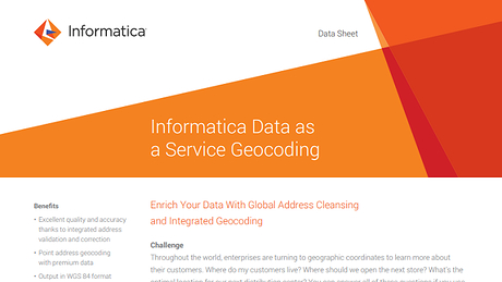 Geocoding Addresses | Informatica