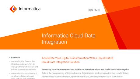 Informatica Cloud Data Integration