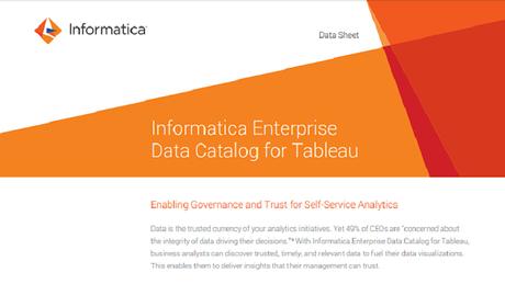 Informatica Enterprise Data Catalog for Tableau