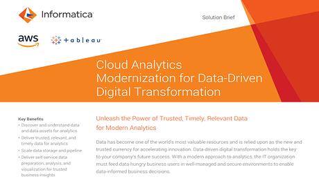 Data Management for Amazon Web Services   Informatica