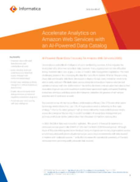 Enterprise Data Catalog for AWS