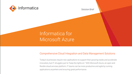 Informatica Cloud for Microsoft Azure SQL Data Warehouse