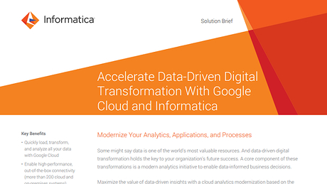 Accelerate Data-Driven Digital Transformation With Google