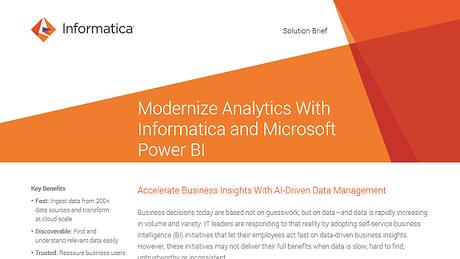 Informatica for Power BI - Accelerate Analytics