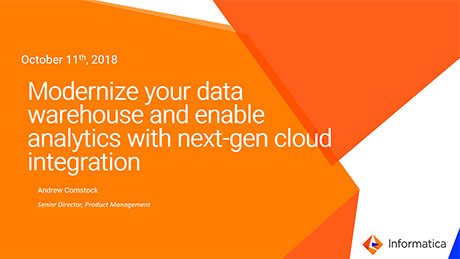 Modernize your data warehouse and enable analytics with next-gen cloud integration