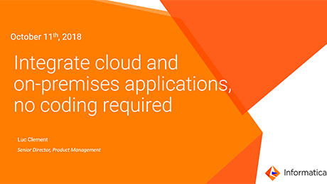 Integrate cloud and on-premises applications, no coding required
